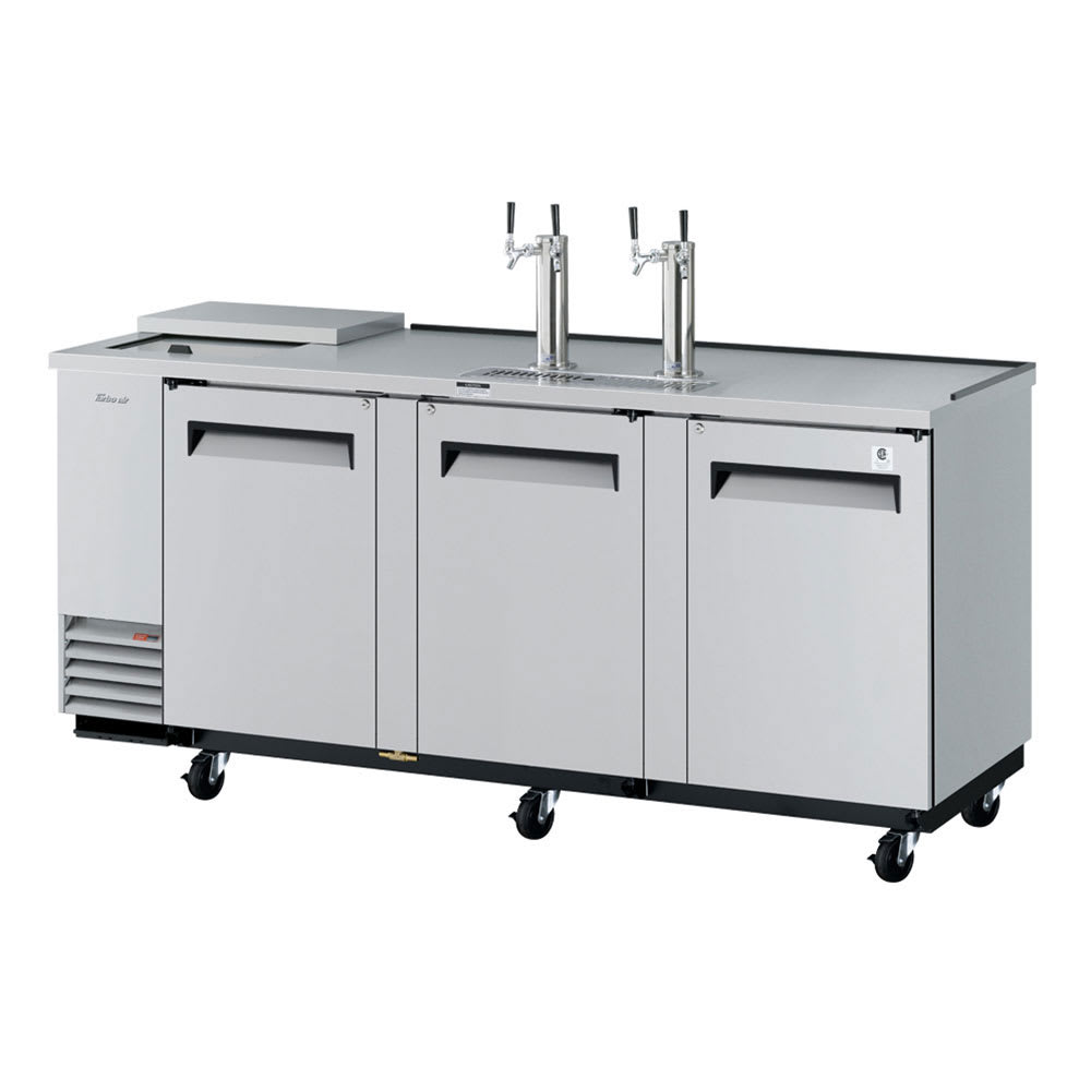 "Turbo Air TCB-4SD-N 90.38"" Draft Beer System w/ (4) Keg Capacity - (2) Columns, Stainless, 115v"