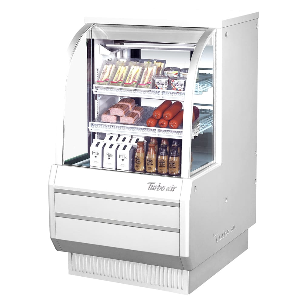 "Turbo Air TCDD-36-2-H 36.5"" Full Service Deli Case w/ Curved Glass - (3) Levels, 115v"