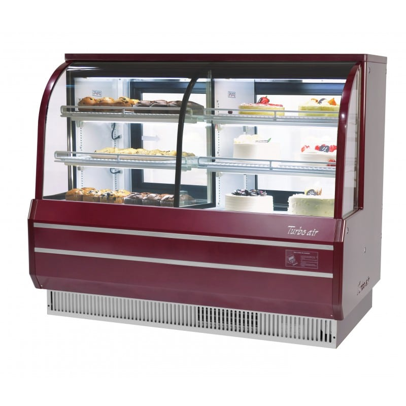 "Turbo Air TCGB-60CO-R-N 60.5"" Full Service Bakery Display Case w/ Curved Glass - (3) Levels, 115v"