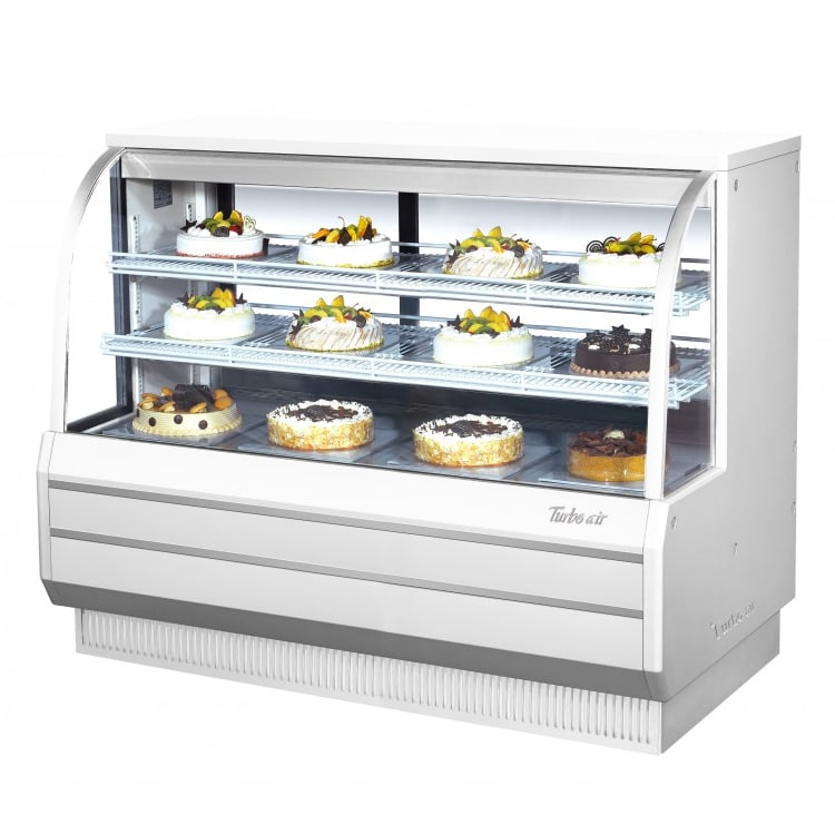 """Turbo Air TCGB-60DR-W(R) 60.5"""" Full Service Dry Bakery Display Case w/ Curved Glass - (3) Levels, 115v"""