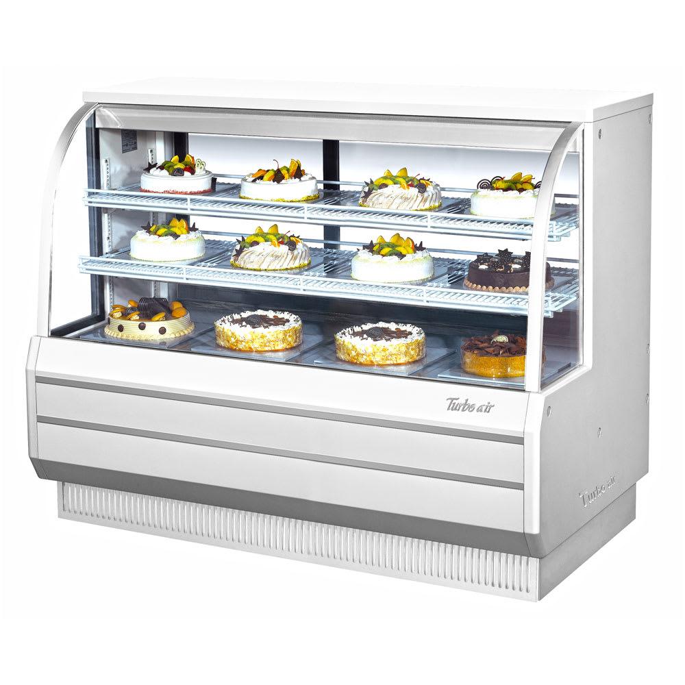"Turbo Air TCGB-60-W-N 60.5"" Full Service Bakery Display Case w/ Curved Glass - (3) Levels, 115v"