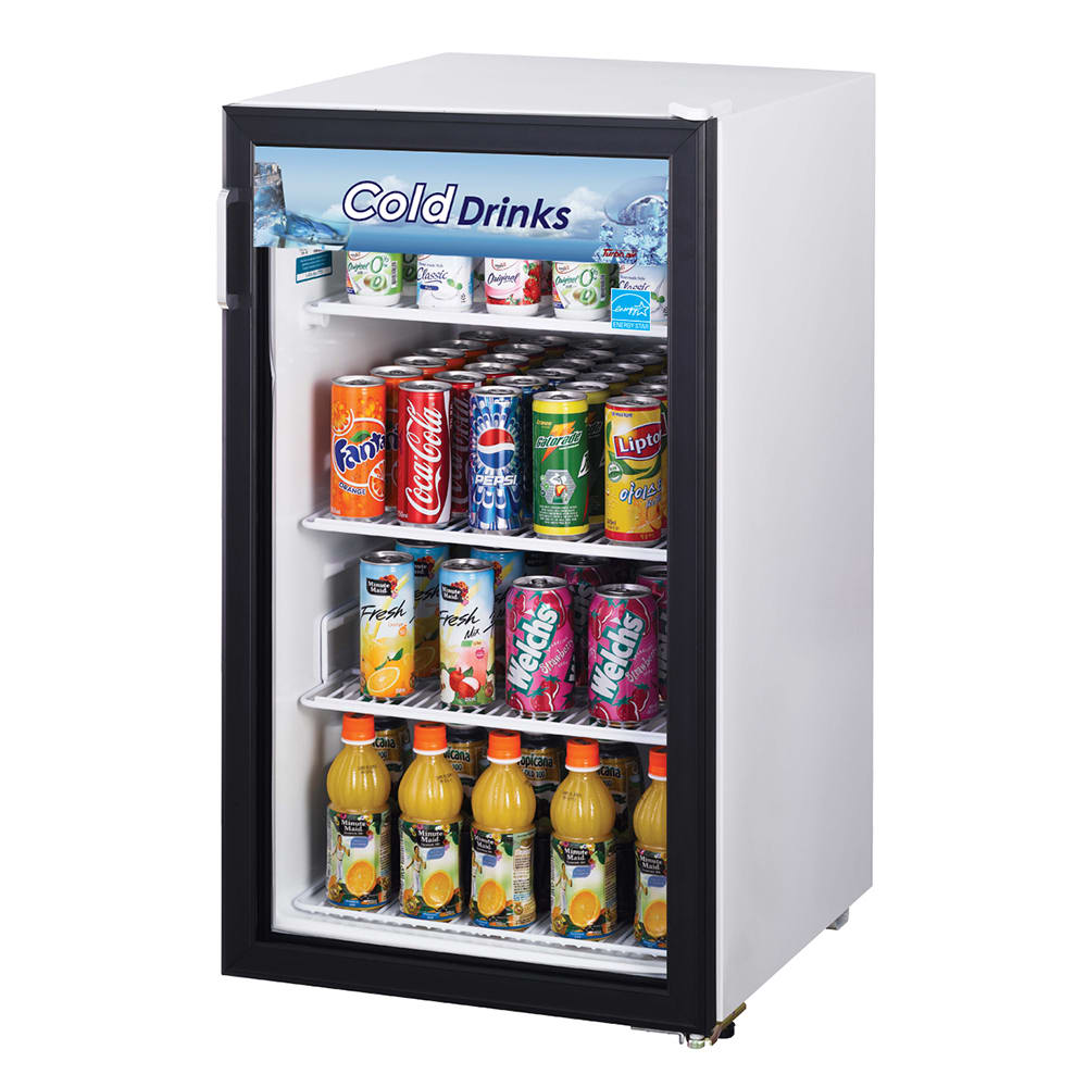 """Turbo Air TGM-5R 19"""" Countertop Refrigerator w/ Front Access - Swing Door, White, 115v"""