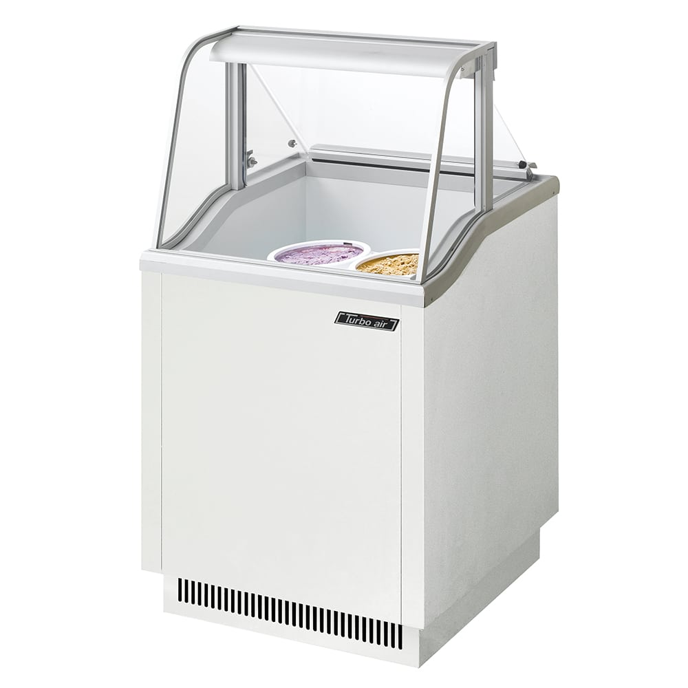 "Turbo Air TIDC-26W 26"" Stand Alone Ice Cream Freezer w/ 4 Tub Capacity, 115v"