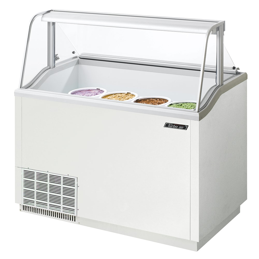 "Turbo Air TIDC-47W 47"" Stand Alone Ice Cream Freezer w/ 8-Tub Capacity, 115v"