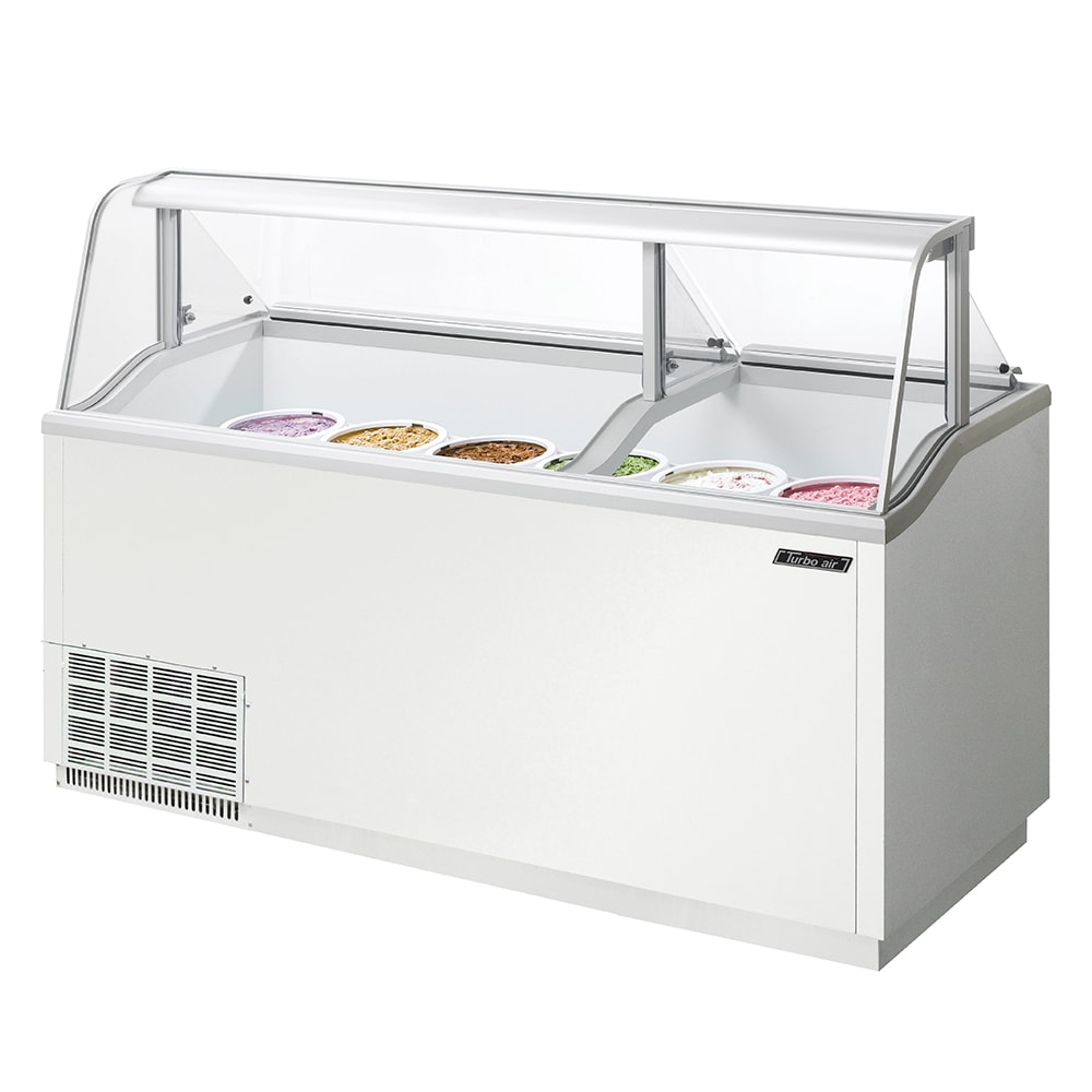 "Turbo Air TIDC-70W 70.37"" Stand Alone Ice Cream Freezer w/ 12-Tub Capacity, 115v"