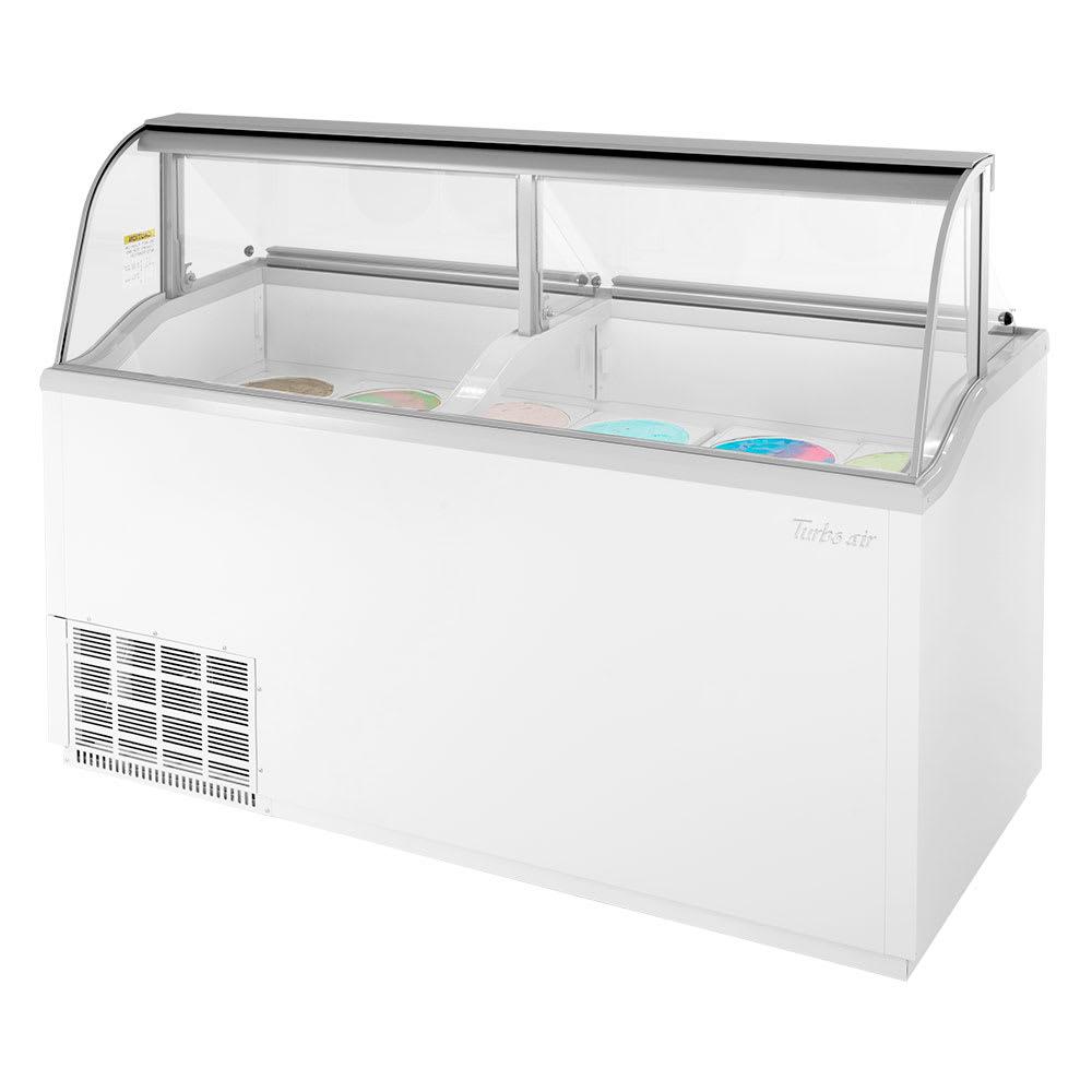 "Turbo Air TIDC-70W-N 68"" Stand Alone Ic e Cream Freezer w/ (12) 3 gal Capacity, 115v"