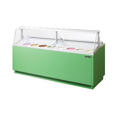 "Turbo Air TIDC91G 89"" Stand-Alone Ice Cream Freezer w/ (16) 3-gal Tub Capacity - Green, 115v"
