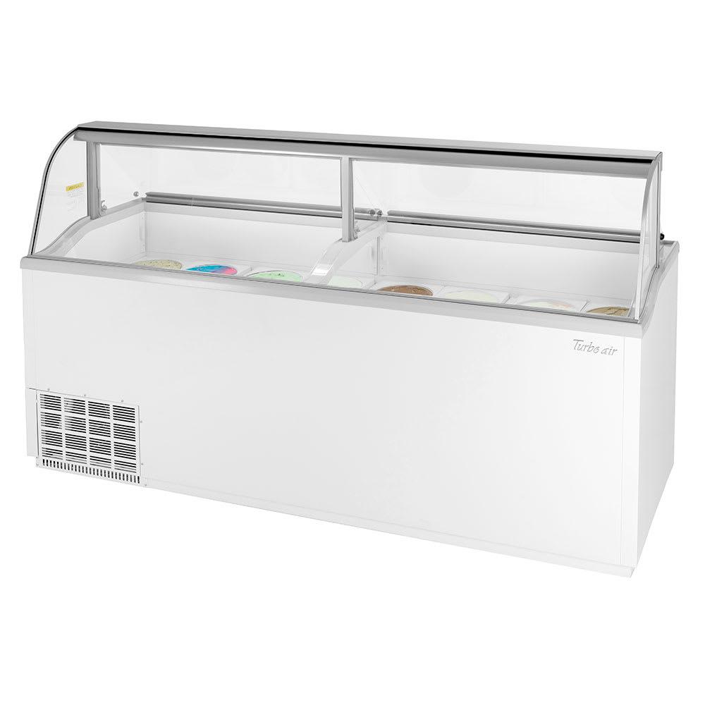 "Turbo Air TIDC-91W-N 89"" Stand Alone Ice Cream Freezer w/ 16-Tub Capacity, 115v"