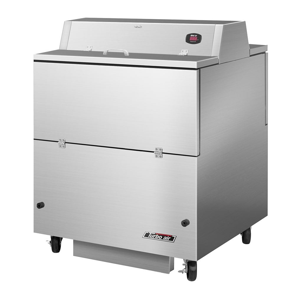 Turbo Air TMKC-34D-SS Milk Cooler w/ Top & Side Access - (512) Half Pint Carton Capacity, 115v