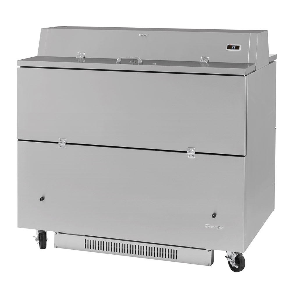 Turbo Air TMKC-49D-N-SS Milk Cooler w/ Top & Side Access - (768) Half Pint Carton Capacity, 115v