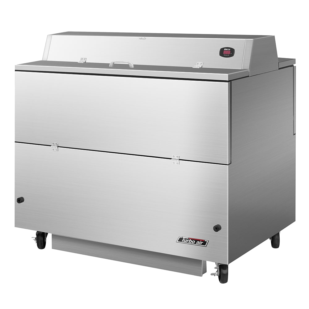 Turbo Air TMKC-49D-SS Milk Cooler w/ Top & Side Access - (768) Half Pint Carton Capacity, 115v