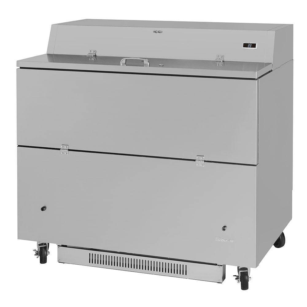 Turbo Air TMKC-49S-N-SS Milk Cooler w/ Top & Side Access - (768) Half Pint Carton Capacity, 115v