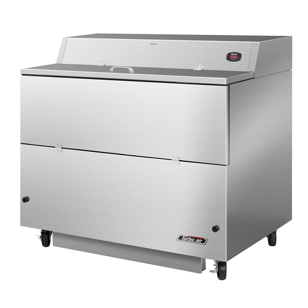 Turbo Air TMKC-49S-SS Milk Cooler w/ Top & Side Access - (768) Half Pint Carton Capacity, 115v