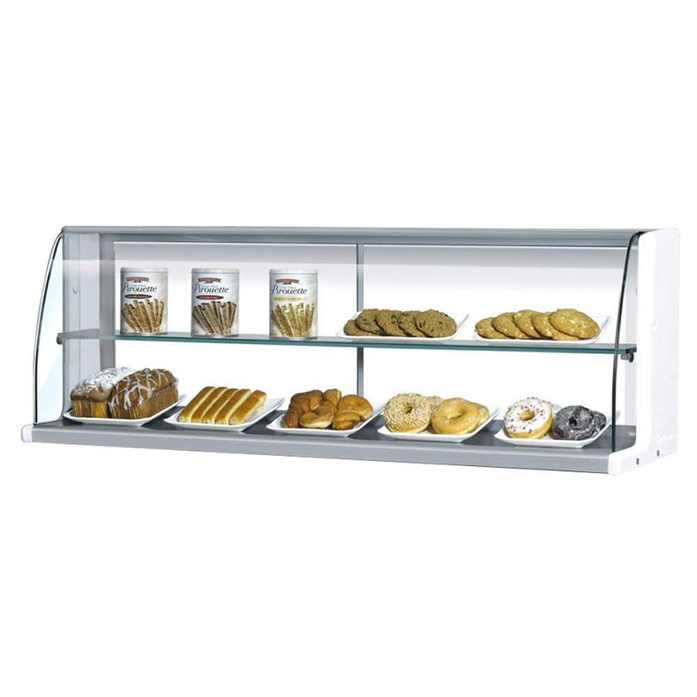 """Turbo Air TOMD-40HW 39"""" High Top Display Dry Case w/ Open Front for TOM-40S/L, White"""