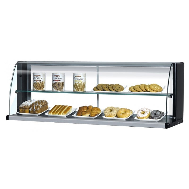 """Turbo Air TOMD-40HB 39"""" High Top Display Dry Case w/ Open Front for TOM-40S/L, Black"""