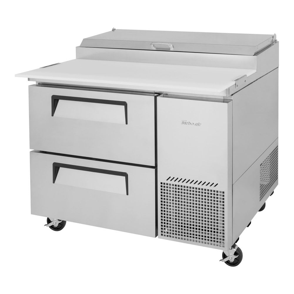 "Turbo Air TPR-44SD-D2-N 44"" Pizza Prep Table w/ Refrigerated Base, 115v"