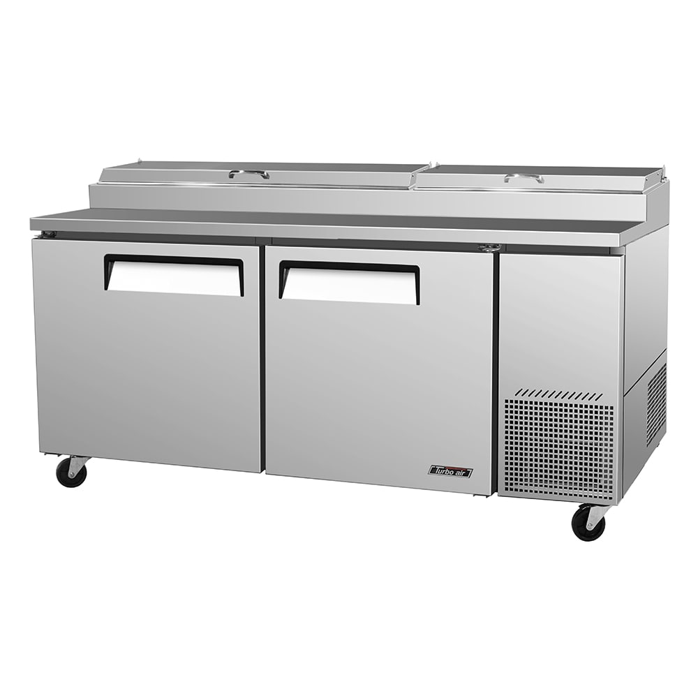 "Turbo Air TPR-67SD 67"" Pizza Prep Table w/ Refrigerated Base, 115v"