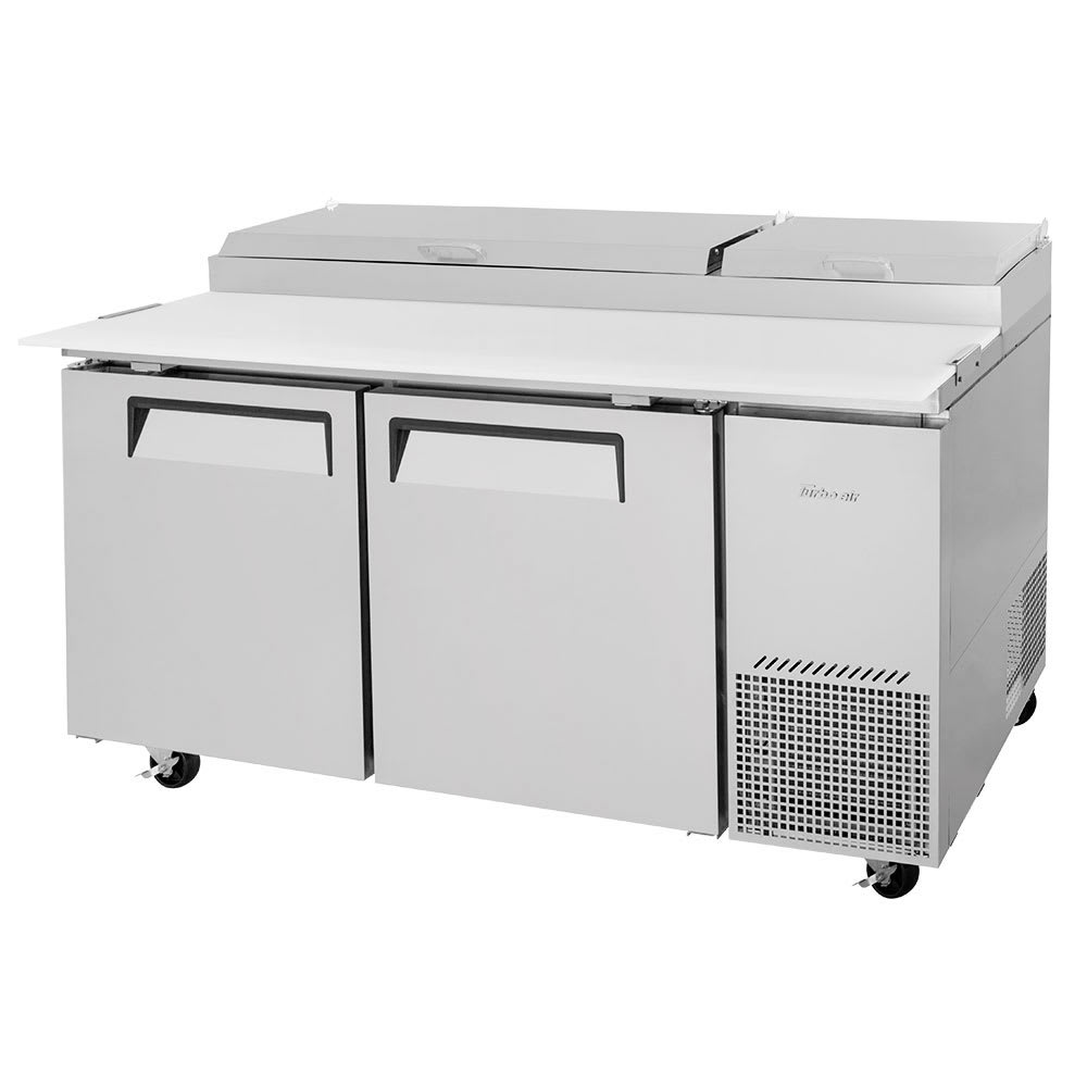 """Turbo Air TPR-67SD-N 67"""" Pizza Prep Table w/ Refrigerated Base, 115v"""