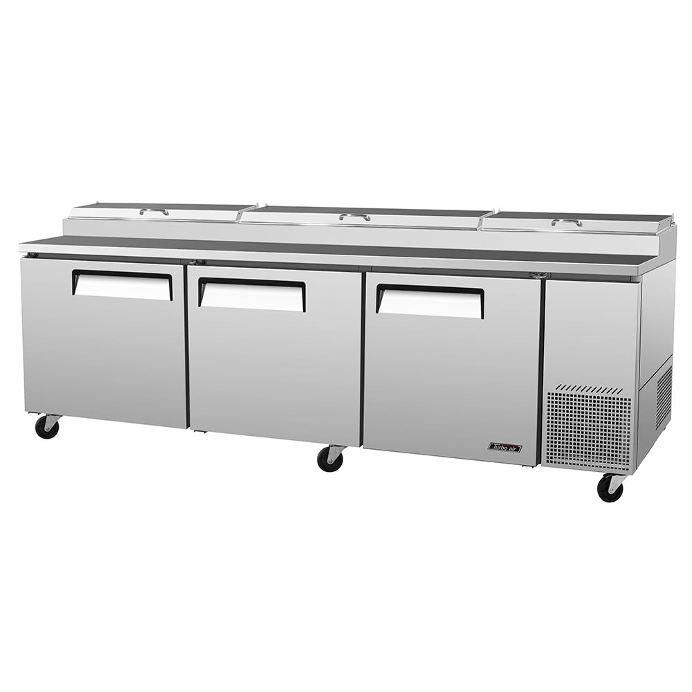 "Turbo Air TPR-93SD 93"" Pizza Prep Table w/ Refrigerated Base, 115v"