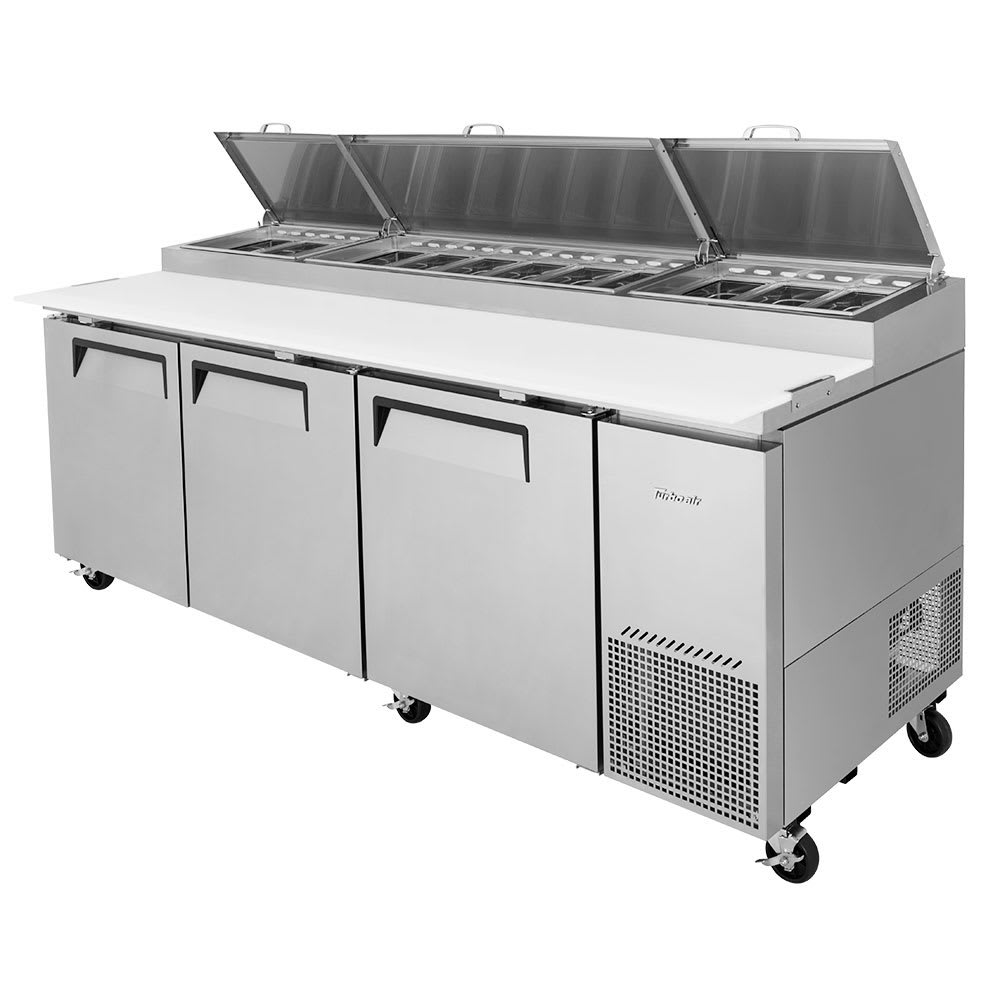 "Turbo Air TPR-93SD-N 93"" Pizza Prep Table w/ Refrigerated Base, 115v"