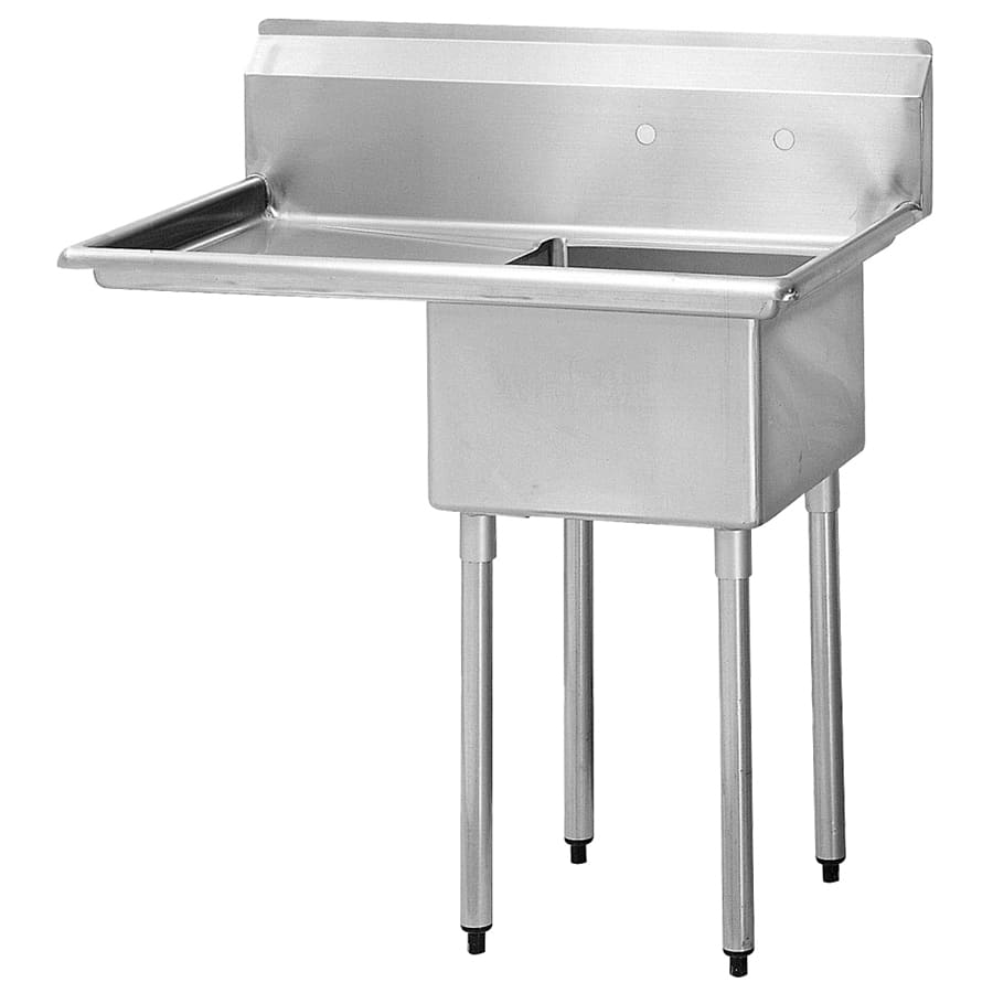 "Turbo Air TSA-1-14-L2 45"" 1 Compartment Sink w/ 18""L x 18""W Bowl, 14"" Deep"