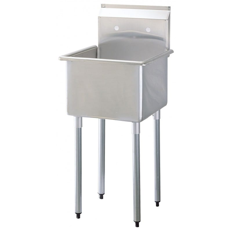 "Turbo Air TSA-1-N 21.5"" 1-Compartment Sink w/ 18""L x 18""W Bowl, 13"" Deep"