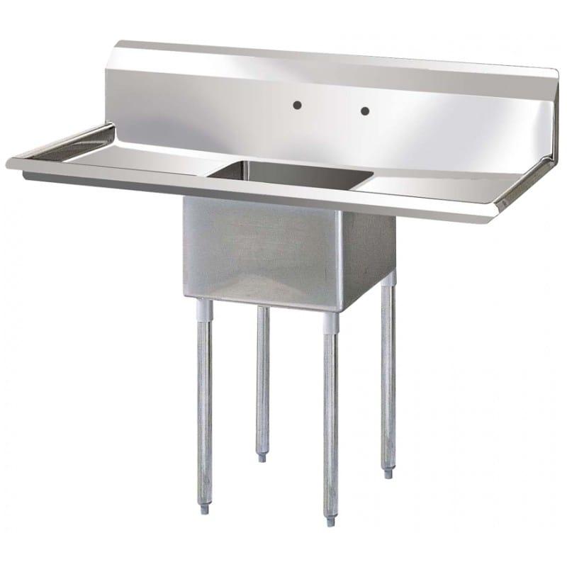 """Turbo Air TSB-1-D2 39"""" 1-Compartment Sink w/ 18""""L x 18""""W Bowl, 12"""" Deep"""