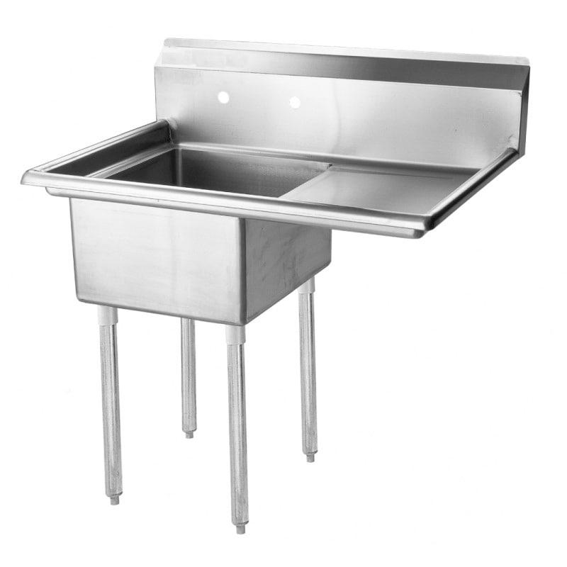 """Turbo Air TSB-1-R2 51"""" 1-Compartment Sink w/ 24""""L x 24""""W Bowl, 14"""" Deep"""