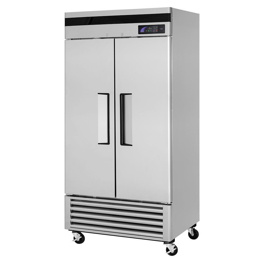 """Turbo Air TSF-35SD-N 39.5"""" Two Section Reach-In Freezer, (2) Solid Doors, 115v"""