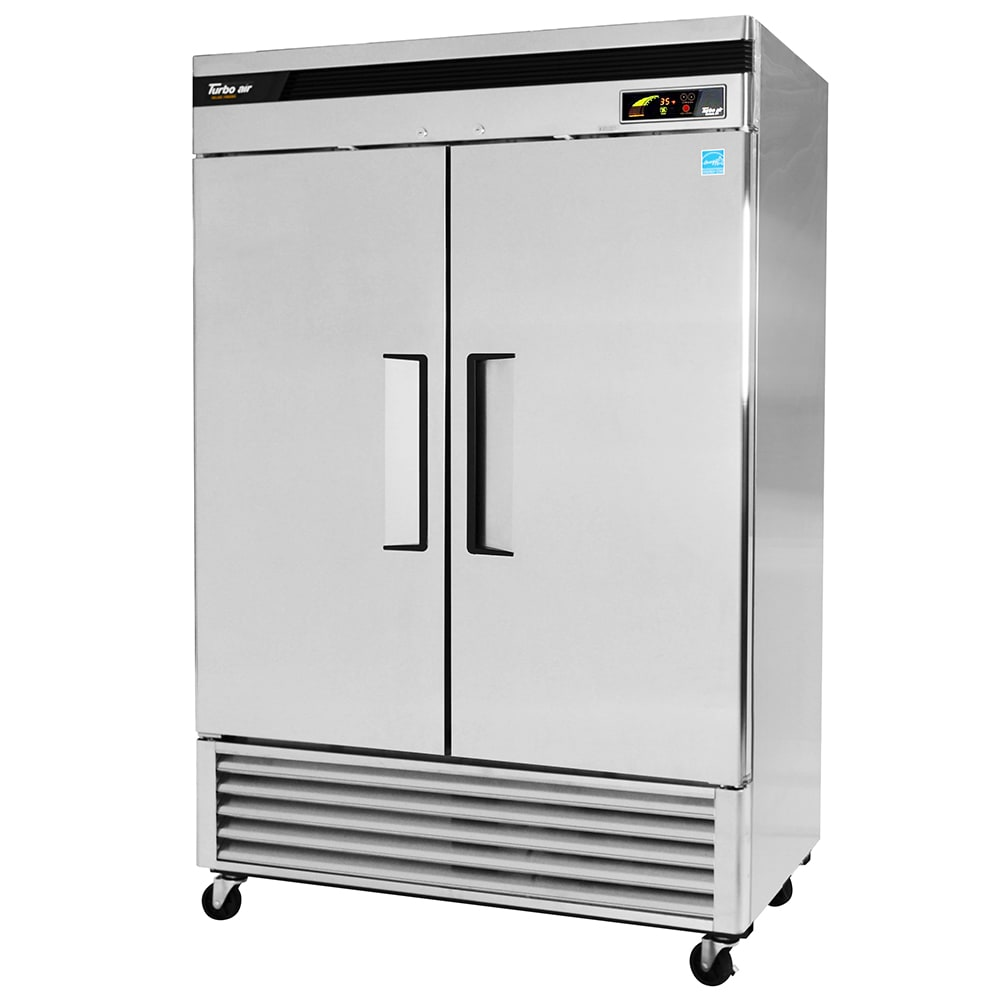 """Turbo Air TSF-49SD 54"""" Two Section Reach-In Freezer, (2) Solid Doors, 115v"""