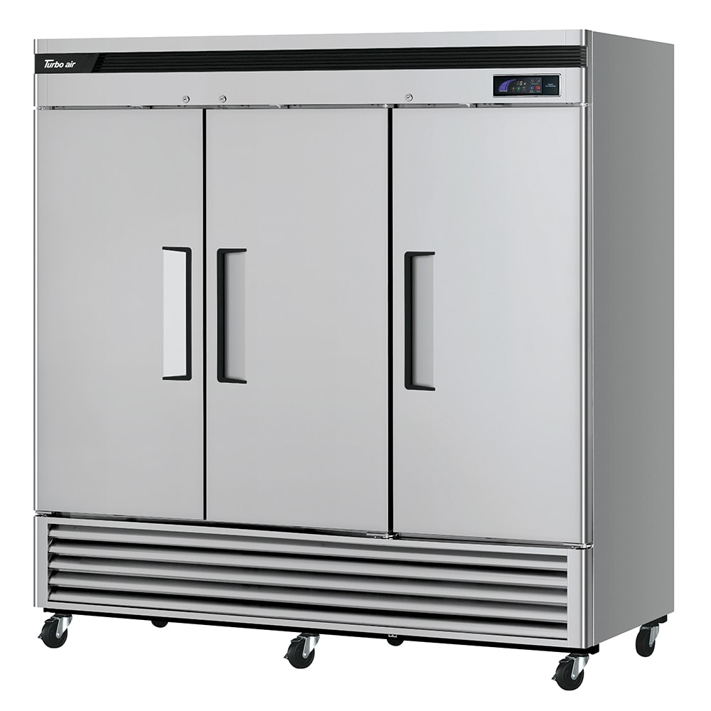 "Turbo Air TSF-72SD-N 81.87"" Three Section Reach-In Freezer, (3) Solid Doors, 115v"