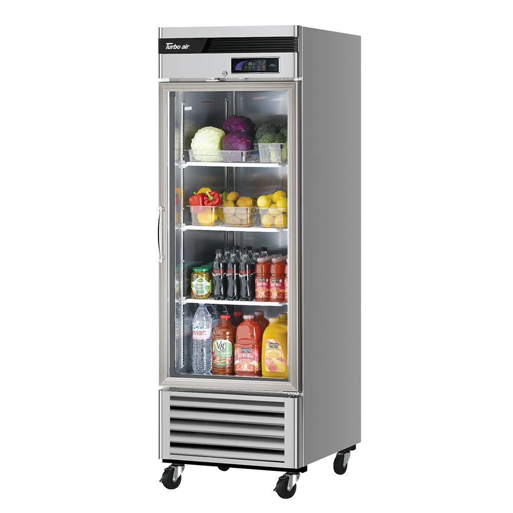 "Turbo Air TSR-23GSD-N6 27"" Single Section Reach-In Refrigerator, (1) Glass Door, 115v"
