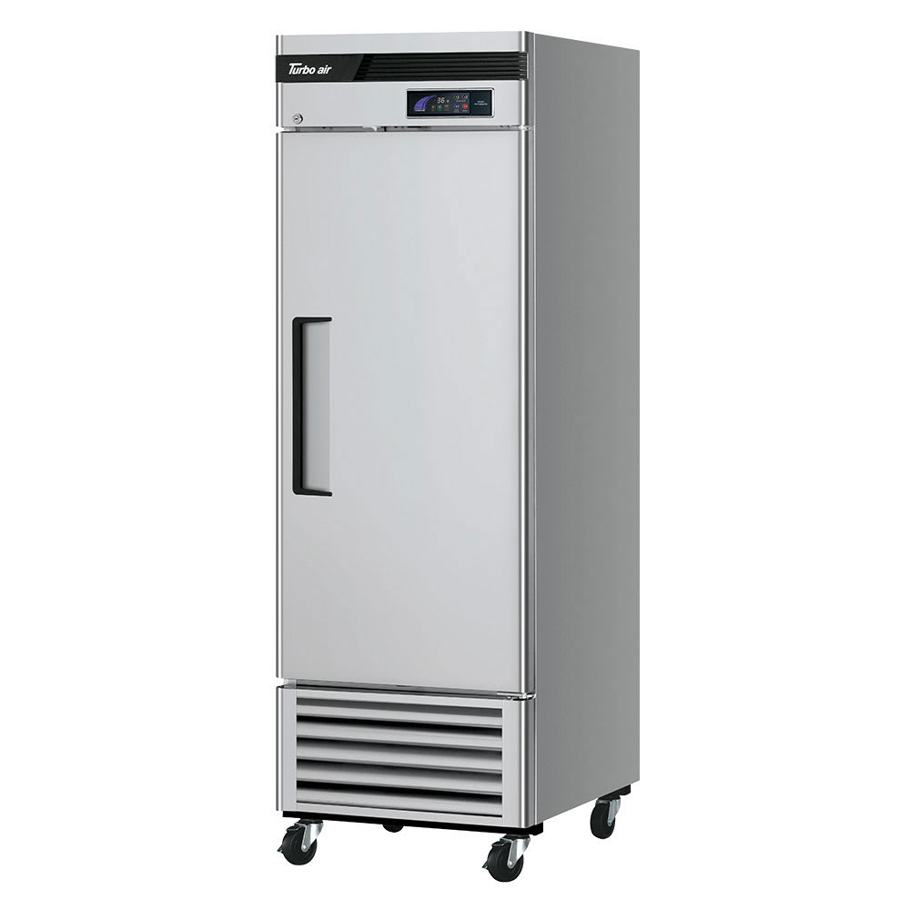 "Turbo Air TSR-23SD-N6 27"" Single Section Reach-In Refrigerator, (1) Solid Door, 115v"