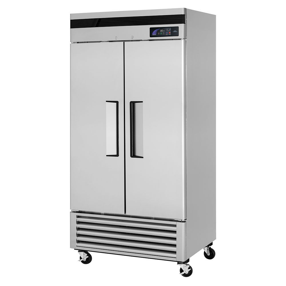 "Turbo Air TSR-35SD-N 39.5"" Two Section Reach-In Refrigerator, (2) Solid Door, 115v"