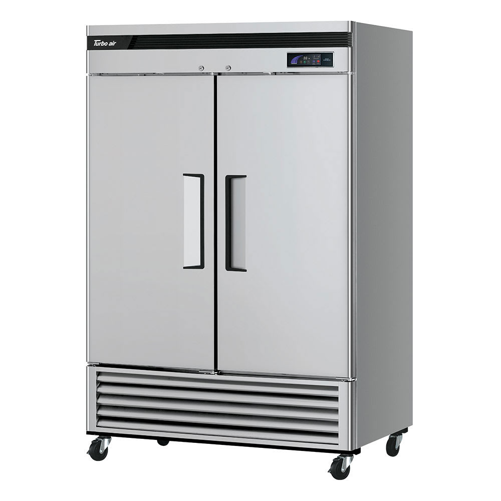 "Turbo Air TSR-49SD-N6 54"" Two Section Reach-In Refrigerator, (2) Solid Doors, 115v"
