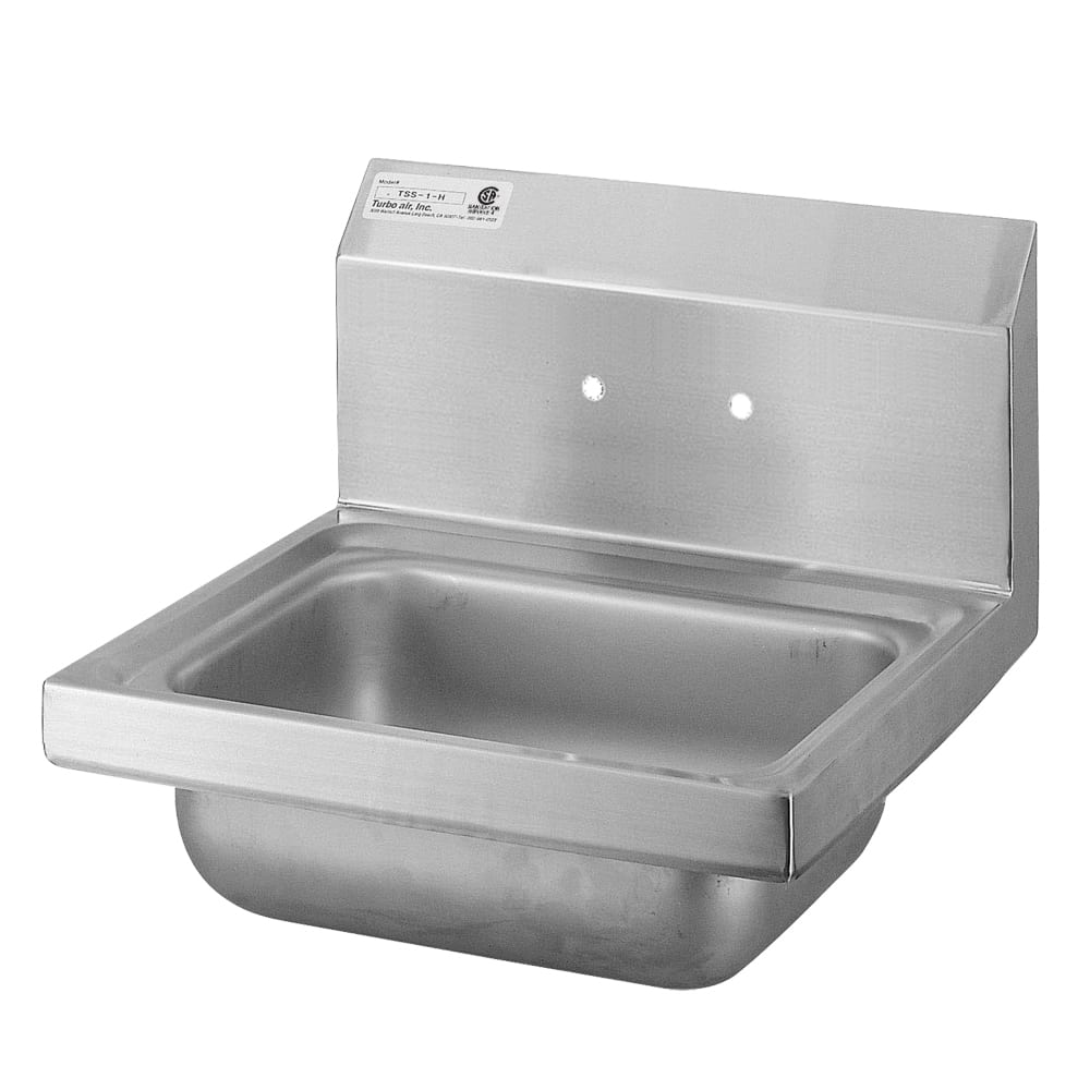 "Turbo Air TSS-1-H Wall Mount Commercial Hand Sink w/ 17""L x 15""W x 6""D Bowl"
