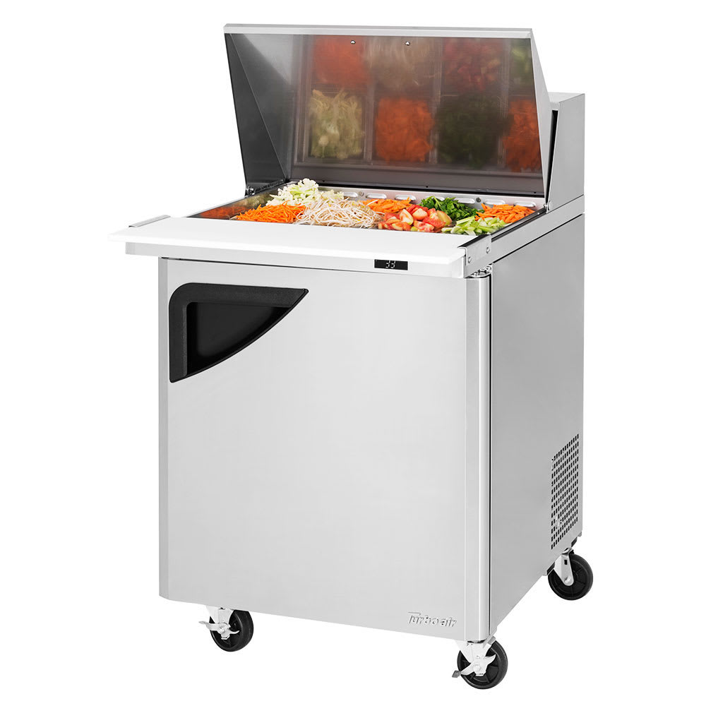 "Turbo Air TST-28SD-12-N 27"" Sandwich/Salad Prep Table w/ Refrigerated Base, 115v"