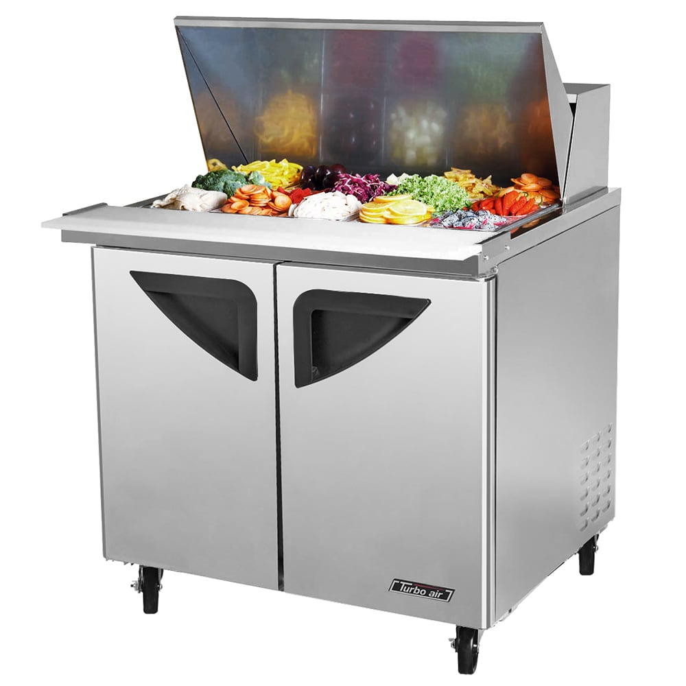 "Turbo Air TST-36SD-15 36"" Sandwich/Salad Prep Table w/ Refrigerated Base, 115v"