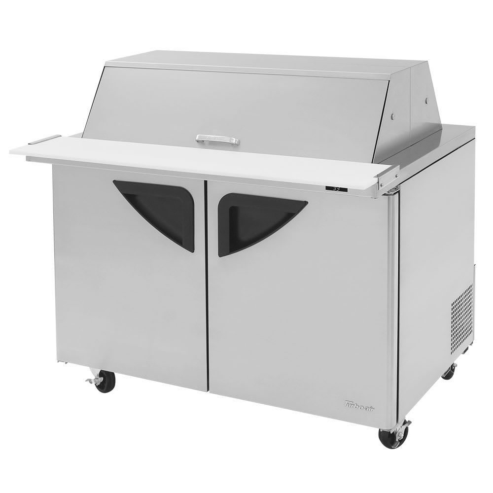 "Turbo Air TST-48SD-18-N-DS 48"" Sandwich/Salad Prep Table w/ Refrigerated Base, 115v"