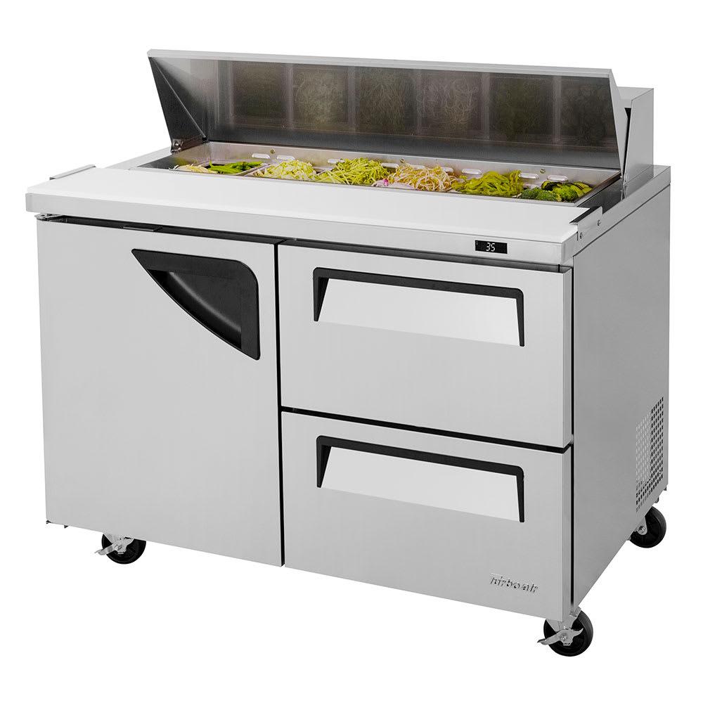 "Turbo Air TST-48SD-D2-N 48.25"" Sandwich/Salad Prep Table w/ Refrigerated Base, 115v"