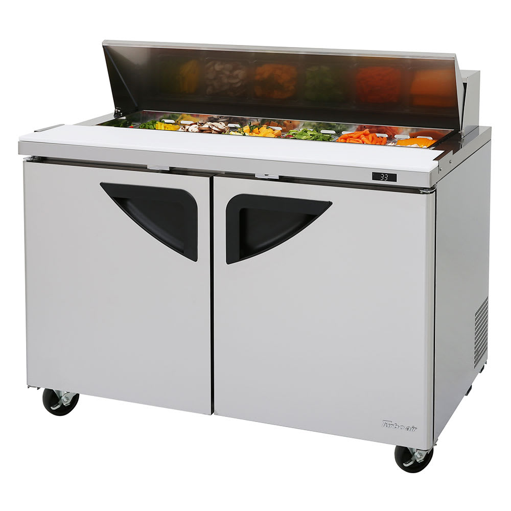 "Turbo Air TST-48SD-N 48"" Sandwich/Salad Prep Table w/ Refrigerated Base, 115v"
