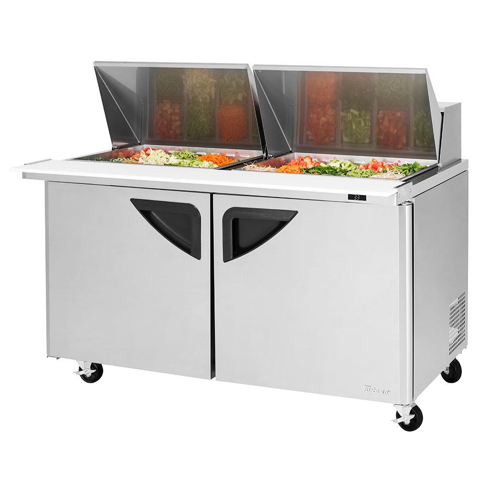 "Turbo Air TST-60SD-24-N 60.25"" Sandwich/Salad Prep Table w/ Refrigerated Base, 115v"