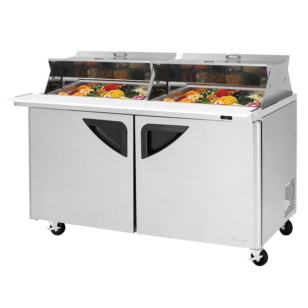"""Turbo Air TST-60SD-24-N-DS 60.25"""" Sandwich/Salad Prep Table w/ Refrigerated Base, 115v"""