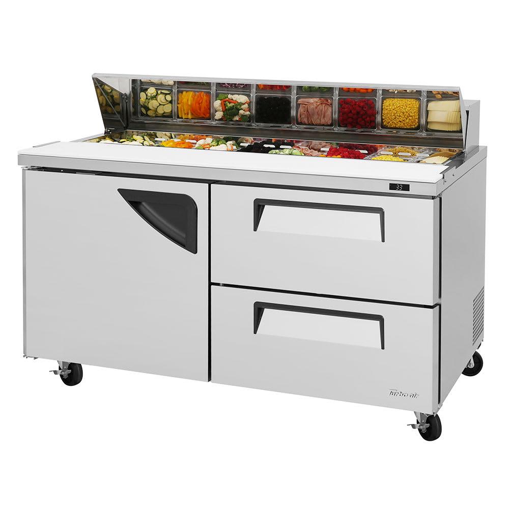 "Turbo Air TST-60SD-D2-N 60.25"" Sandwich/Salad Prep Table w/ Refrigerated Base, 115v"