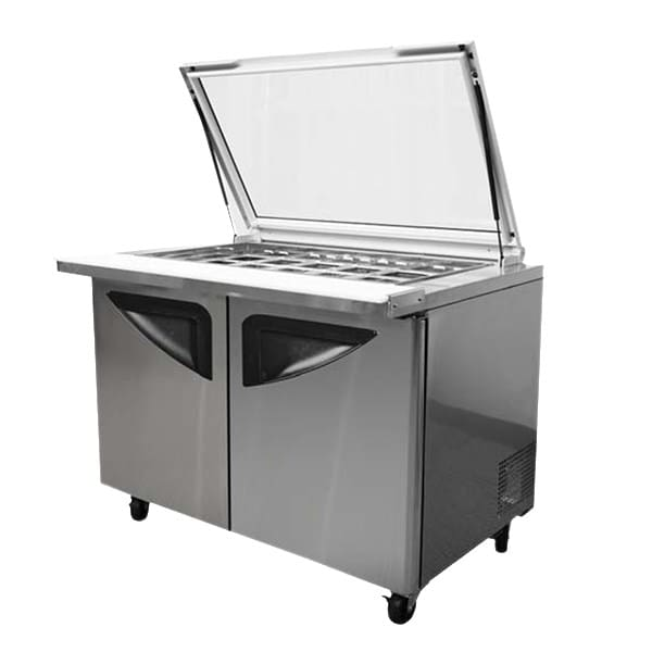 "Turbo Air TST-72SD-30-GL 72.63"" Sandwich/Salad Prep Table w/ Refrigerated Base, 115v"
