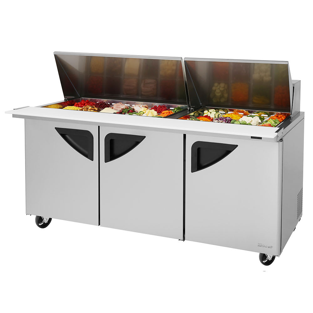 "Turbo Air TST-72SD-30-N-DS 72.63"" Sandwich/Salad Prep Table w/ Refrigerated Base, 115v"
