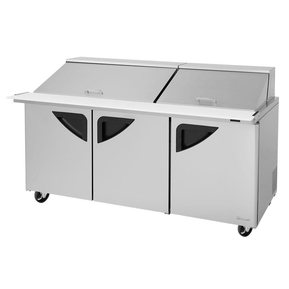 "Turbo Air TST-72SD-30-N-SL 72.63"" Sandwich/Salad Prep Table w/ Refrigerated Base, 115v"