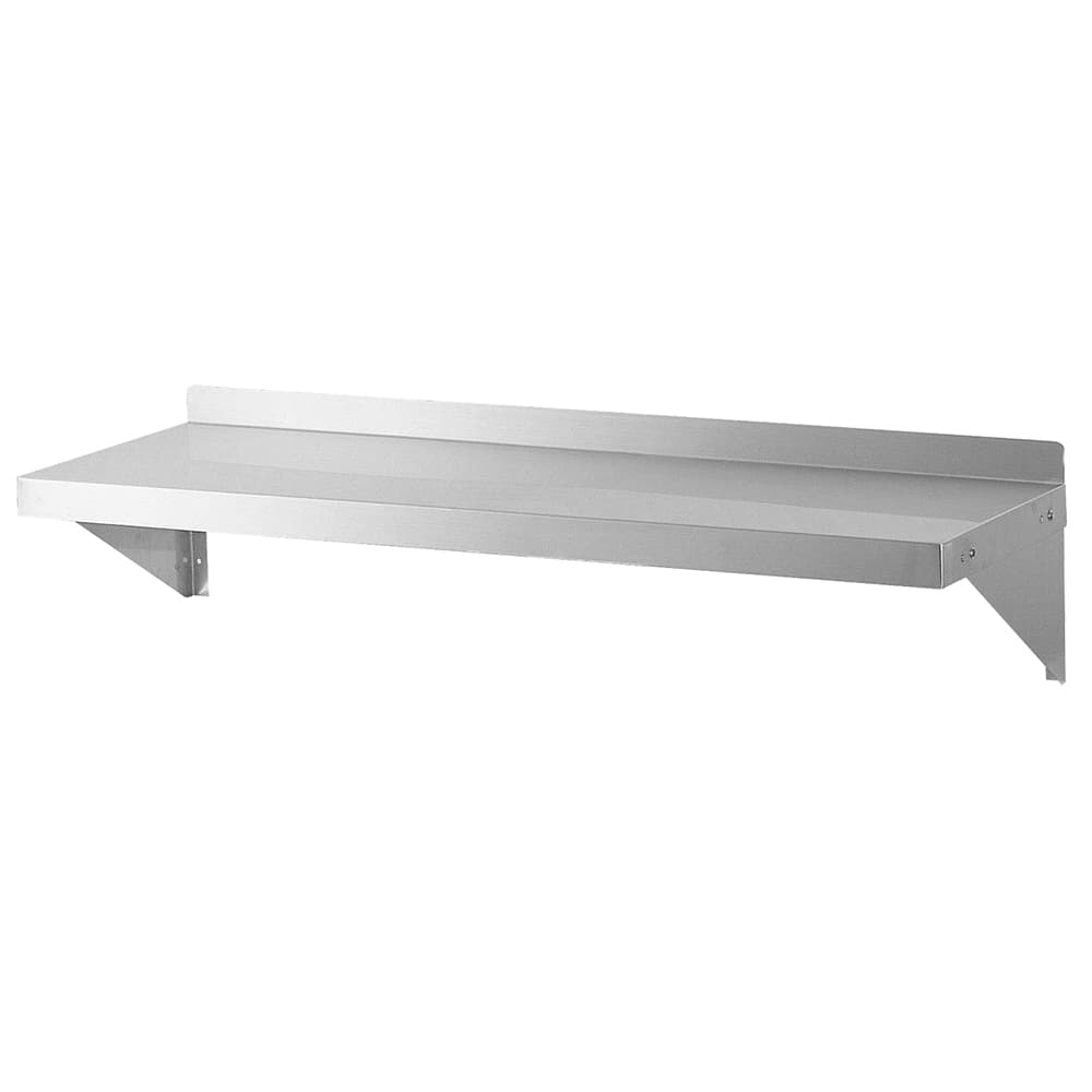 """Turbo Air TSWS-1472 Solid Wall Mounted Shelf, 72""""W x 14""""D, Stainless"""
