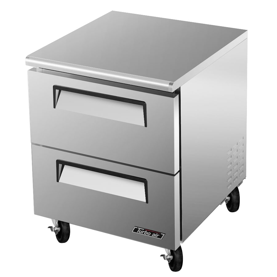 Turbo Air TUF-28SD-D2 7 cu ft Undercounter Freezer w/ (1) Section & (2) Drawers, 115v