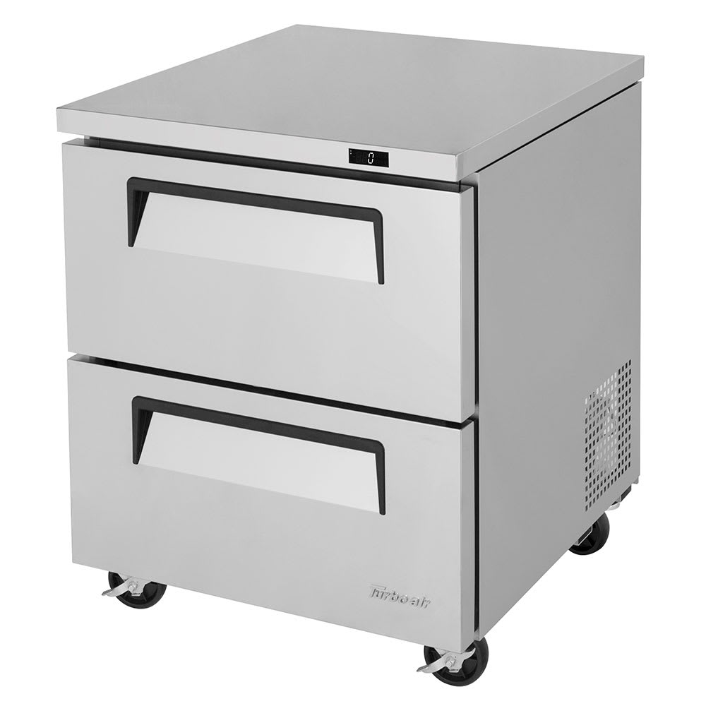 Turbo Air TUF-28SD-D2-N 7 cu ft Undercounter Freezer w/ (1) Section & (2) Drawers, 115v